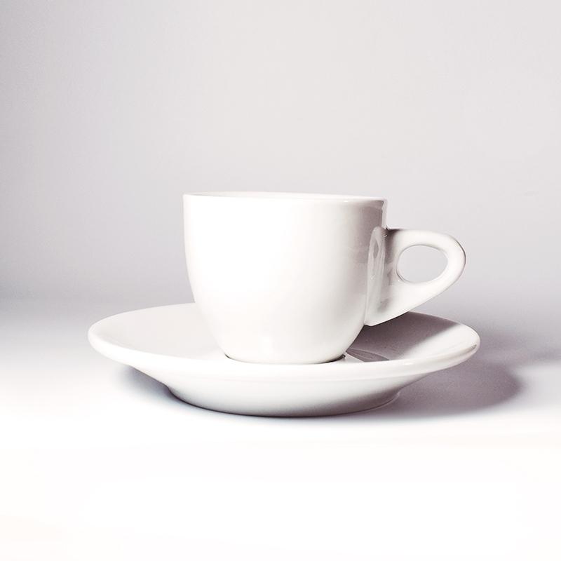 Accessoires Tasse et sous-tasse à Café Henry Blanc  - Torréfaction Noailles