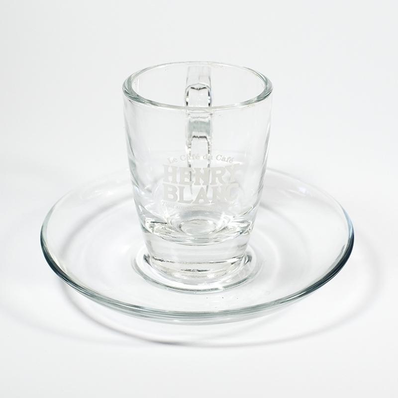 Accessoires Tasse à café Henry Blanc verre - Torréfaction Noailles