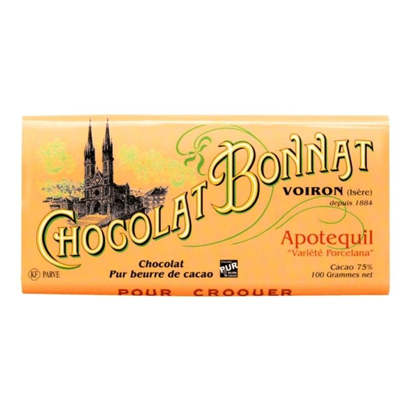 Grands crus d'exceptions noir Chocolat Bonnat Apotequil - Torréfaction Noailles