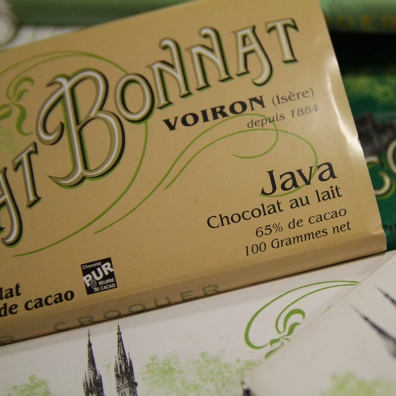 Grands crus Lait Chocolat Bonnat Java - Torréfaction Noailles