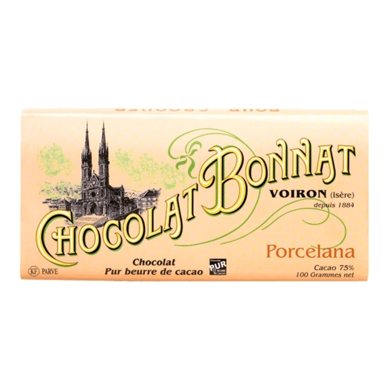 Grands crus d'exceptions noir Chocolat Bonnat Porcelana - Torréfaction Noailles