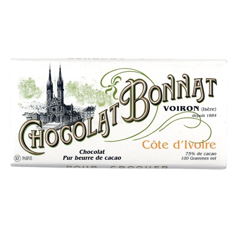 Grands crus historiques noir Chocolat Bonnat Côte d'Ivoire - Torréfaction Noailles