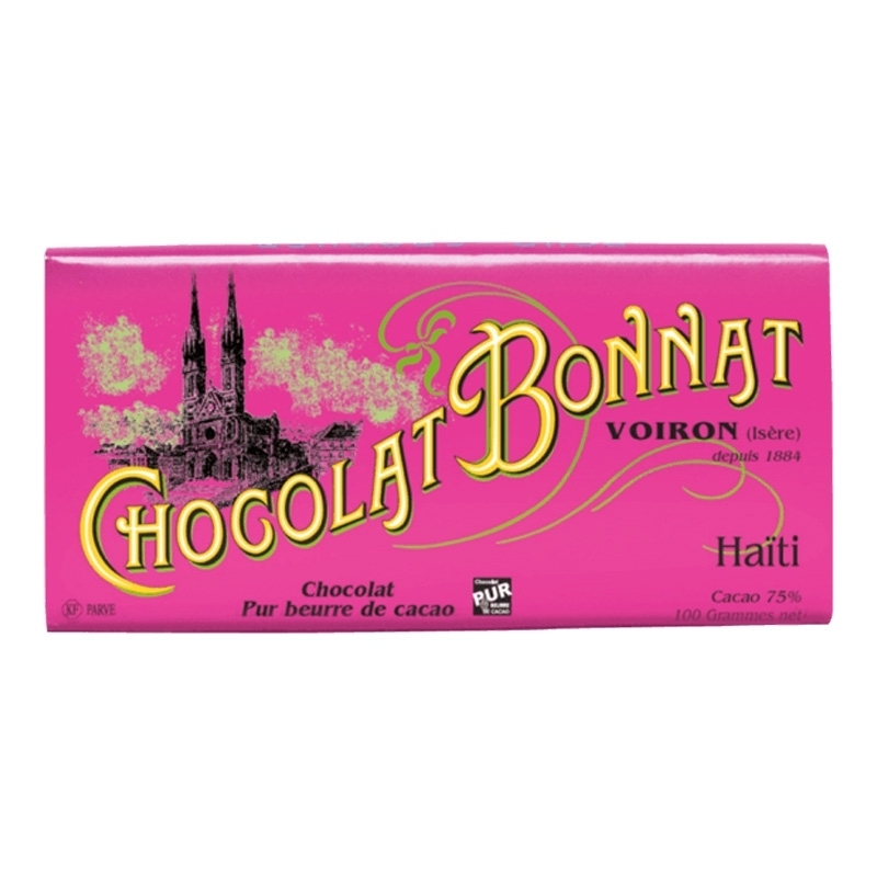 Grands crus d'exceptions noir Chocolat Bonnat Haïti - Torréfaction Noailles
