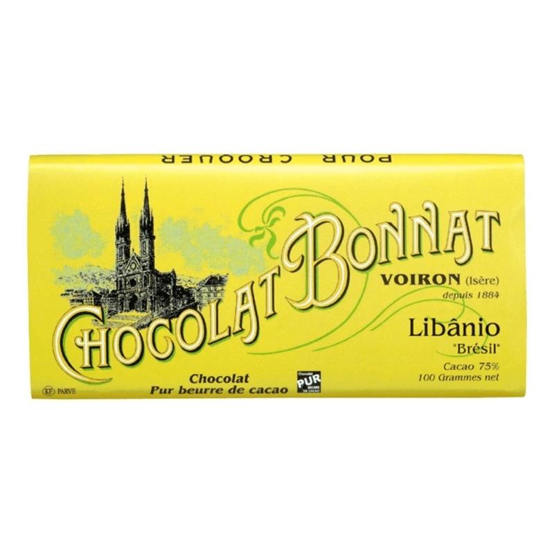 Grands crus d'exceptions noir Chocolat Bonnat Libânio - Torréfaction Noailles