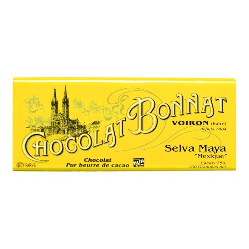 Grands crus d'exceptions noir Chocolat Bonnat Selva Maya - Torréfaction Noailles