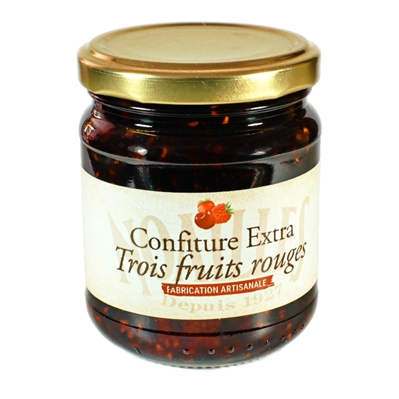 Confiseries Confiture aux 3 Fruits Rouges - Torréfaction Noailles