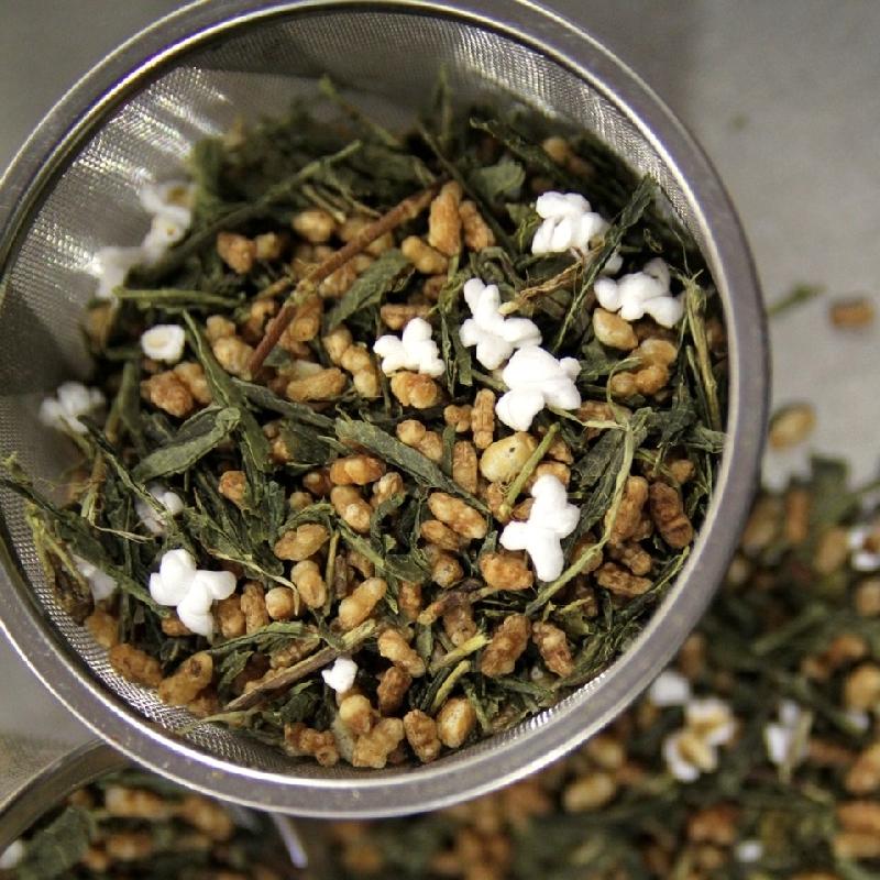 Thés verts Genmaicha finest Japon - Torréfaction Noailles