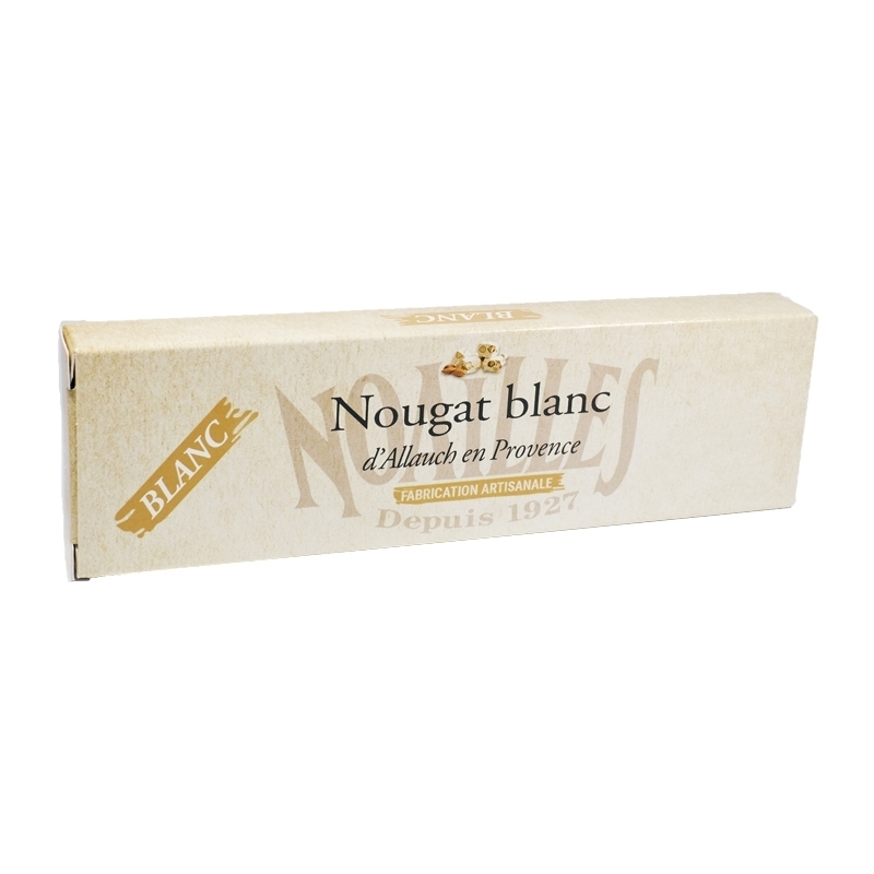 Nougats Barre de nougat blanc artisanal - Torréfaction Noailles